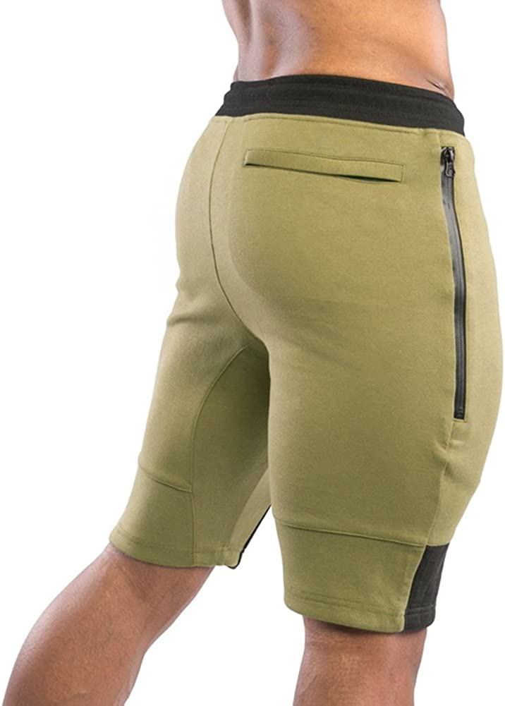 MECH-ENG Mens Gym Workout Running Bodybuilding Jogger Shorts with Pockets