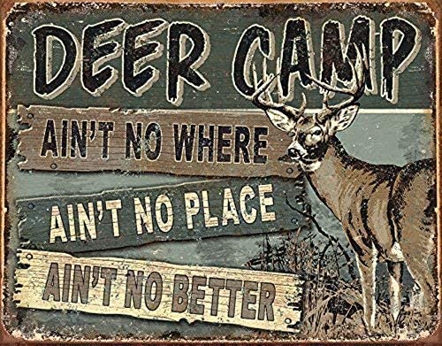 Desperate Enterprises Deer Camp Tin Sign 16 W X 12 5 H To communicate or ask something with the place, the phone number is (330). desperate enterprises deer camp tin