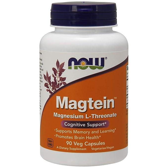 Magtein, Soporte cognitiva, 90 Caps Veggie - Now Foods: Amazon.es: Salud y cuidado personal