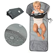 SnoofyBee Large Baby-Changing Travel Pad Diaper Clutch, Accessories for Babies Clean Hands Changing Pad Excursion Edition (Grey)