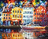 NORMANDY is an 100% hand painted oil painting on Canvas by Leonid Afremov – Recreation of an older painting Picture