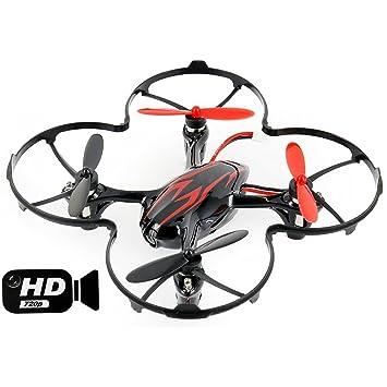 Hubsan JYZ Drone H107C X4 Quadcopter 2mp Camera (Red): Amazon.es ...