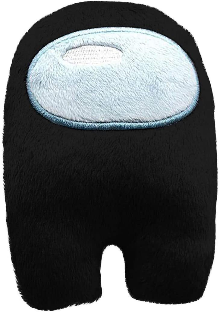 Among Us Plush Figures Soft Sit Doll PP Cotton Black Merch Crewmate Plushie Gifts for Game Fan 4.33 inch Astronaut Plush Toy