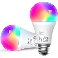 meross Smart Wi-Fi LED Bulb, E27 Light Bulb, Multiple Colors, RGBCW, 810 Lumens, 60W Equivalent, Compatible with Alexa…
