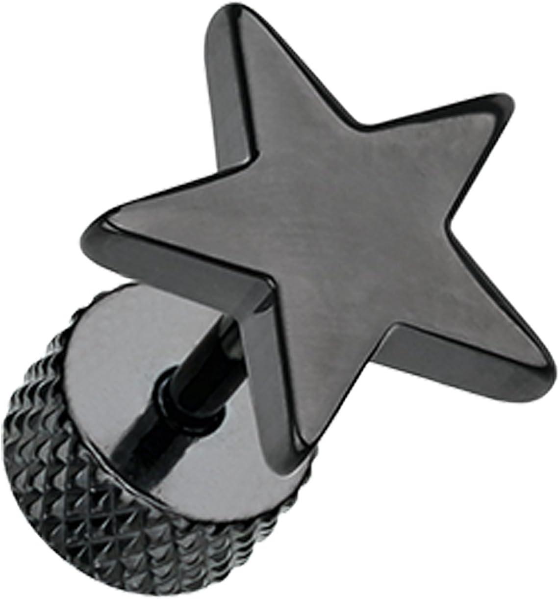 Blackline Nova Star 316L Surgical Steel Fake Plug Sold as a Pair