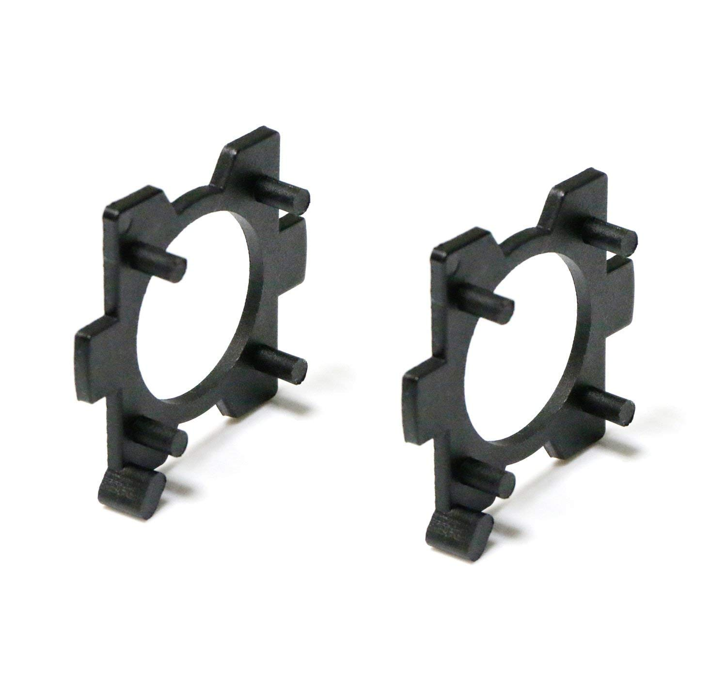 iJDMTOY (2) H7 LED Headlight Bulbs Adapters Holders Retainers For Mazda 3 5 6 MX-5 CX-5 CX-7 RX-8, etc (Low Beam) iJDMTOY Auto Accessories No modification require LED holder ring