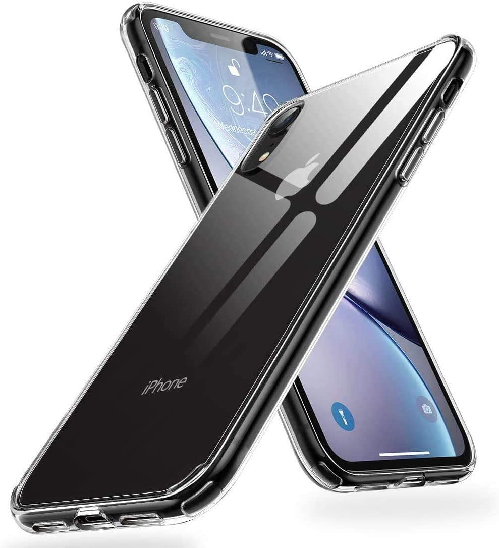 Humixx Crystal Clear iPhone XR Case, [Military Grade Drop Protection] with Anti- Drop Hard PC Back and Soft TPU Edge, Shockproof Protective Case Designed for Apple iPhone XR(2020)-Clear