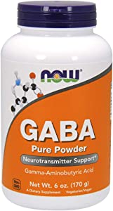 NOW Supplements, GABA (Gamma-Aminobutyric Acid) Powder, Neurotransmitter Support*, 6-Ounce