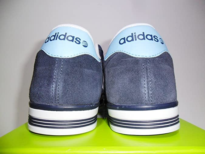 597b1ee344e2a5 Adidas Mens Trainers Neo Daily Team Suede Blue Navy UK Size 9.5 EU 44 New   Amazon.co.uk  Shoes   Bags