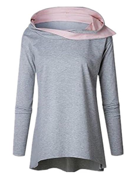Kerlana Sudaderas Abrigos Mujer Manga Larga Sudaderas Ocasional Encapuchado Modernas T Shirt Ligero Tops: Amazon.es: Ropa y accesorios
