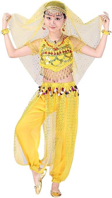 YWLINK Traje De Rendimiento, NiñAs India Danza del Vientre Danza ...