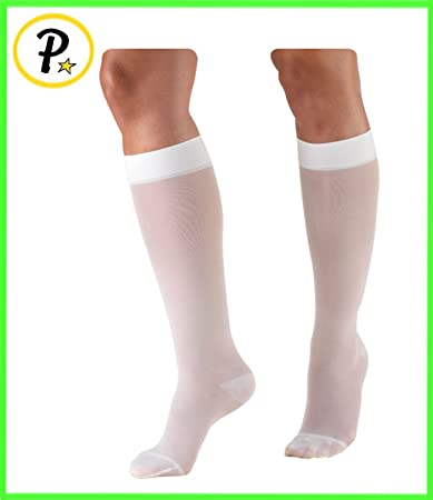 c92ae55b56c Presadee White Closed Toe 15-20 mmHg Compression Medical Grade Swelling Leg  Maternity Pregnancy Stockings