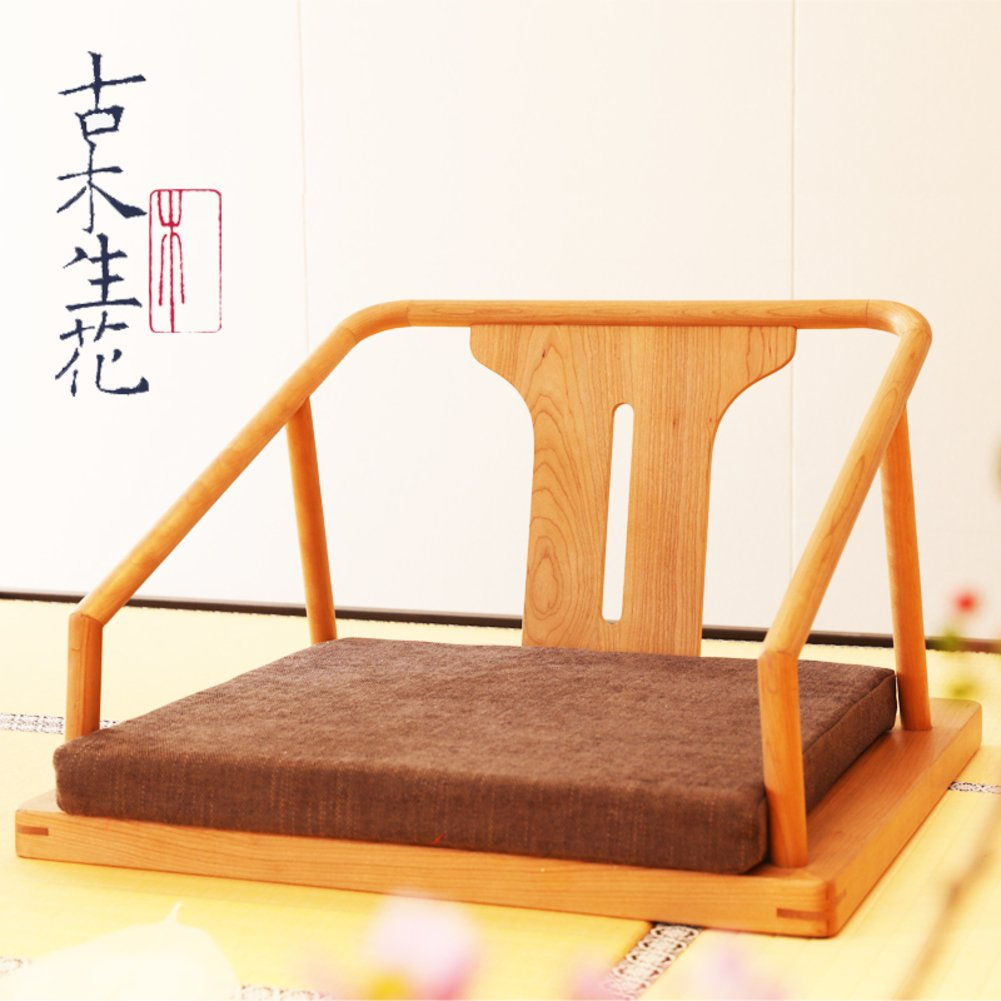 QIQ Japanisches Bett Sessel,Tatami Solide Holz Stuhl Bay Fenster Stuhl