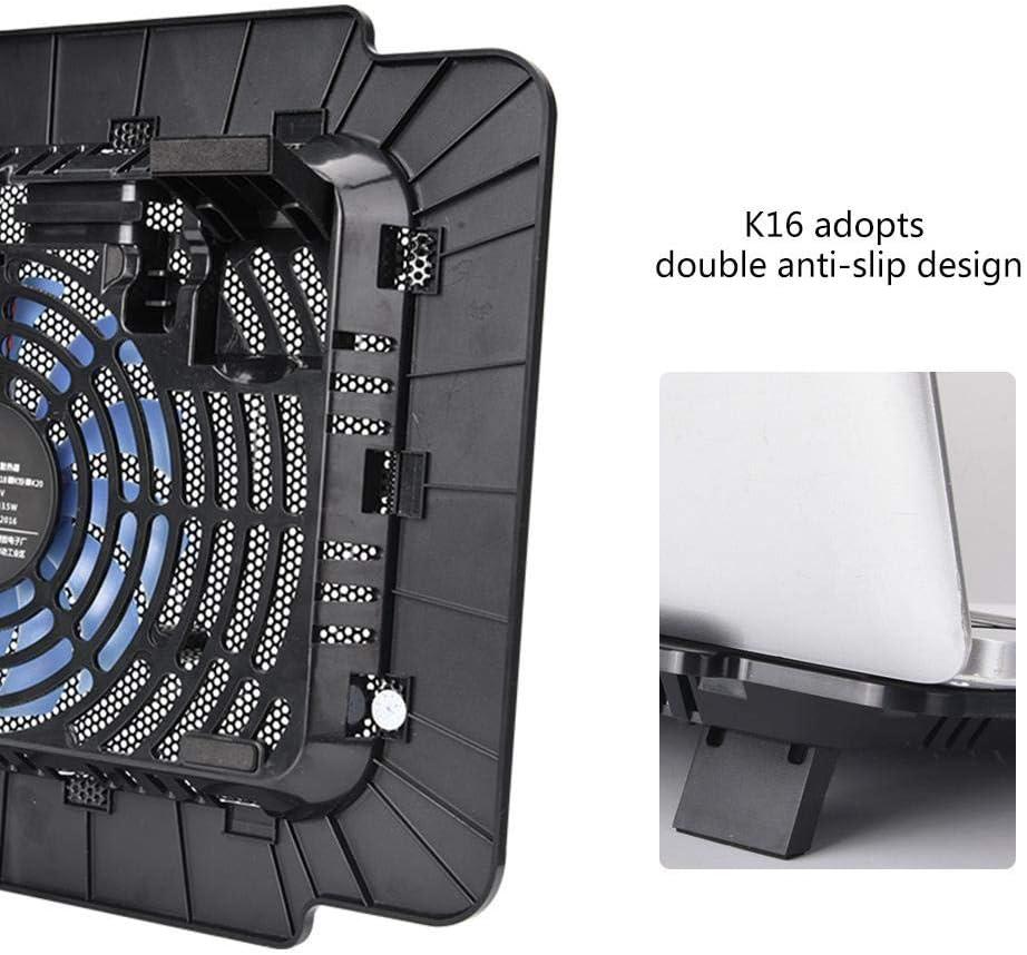 PC Heat Exhauster Cooler Laptop Cooling Fan,5VDC Anti-Pressure//Anti-Fall//Double Anti-Slip//Detachable//Double-Angle Ergonomic Notebook Radiator with Core Moto//Turbo Heat Sink