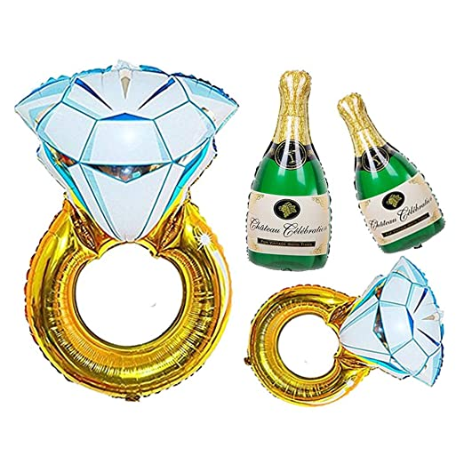 Koogel Globos de compromiso, 4 piezas, globos de fiesta ...