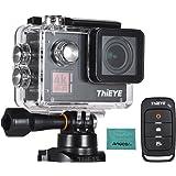 ThiEYE T5 Edge 4K WiFi アクションスポーツカメラ 14MP 1080P 音声リモコン 6軸 EIS安定化 2.0インチIPSディストーション補正 60m防水 Andoerクリニングクロス付き タイムラプス高速/スローモーションをサポート