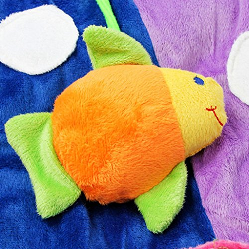 Dovewill Baby Musical Sensory Play Mat Animals Soft Cotton Play Gym - Fish, as described by Dovewill (Image #5)