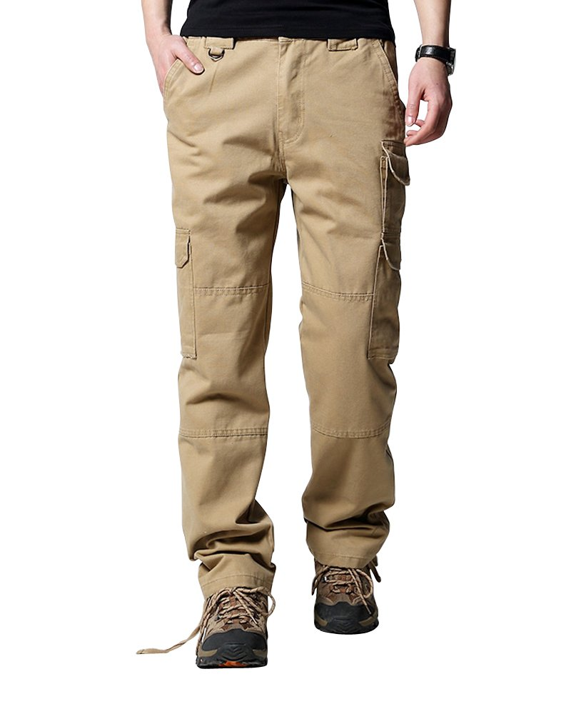 Men's Outdoor Insulated Canvas Utility Cargo Pant OCHENTA O215-01
