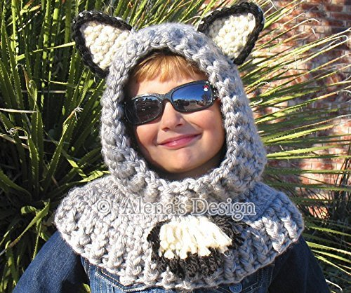 Hooded Cowl with Wolf Ears – Crochet Hooded Cowl – Wolf Cowl – Animals Hat – Handmade Winter Neck Warmer Toddler Child Teen Adult Made in USA