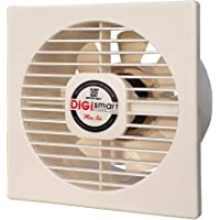 DIGISMART 6 Inches High Speed 1600 RPM (150 mm) 100% Pure Copper Motor Axial Fan (Ivory)