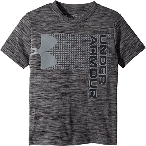 Under Armour Kids Boy's Crossfade Tee (Big Kids) Black/Steel/Stealth Gray Small by Under Armour (Image #2)