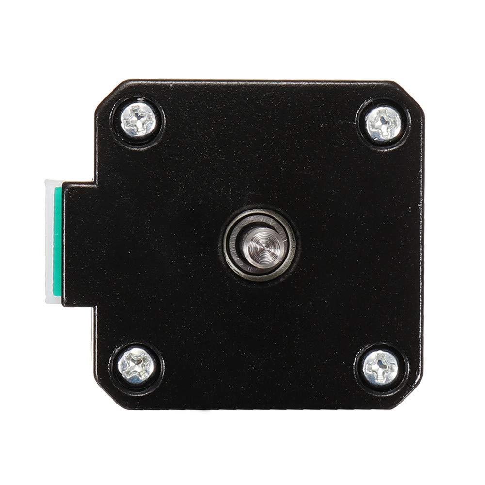 Pannow Double Shaft Nema 17 Moteur pas /à pas 1,7 A 0,55 Nm Bipolaire 4 fils pour DIY 3D Pinter CNC