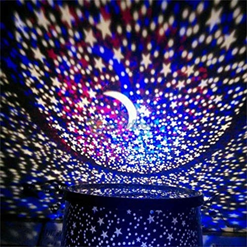 GSusan Star Projecteur de Nuit Romantique LED Starry Night Sky Projecteur Lampe Star Light nouveauté Lampe USB pour la fête à la Maison Cadeaux danniversaire de Noël Bleu