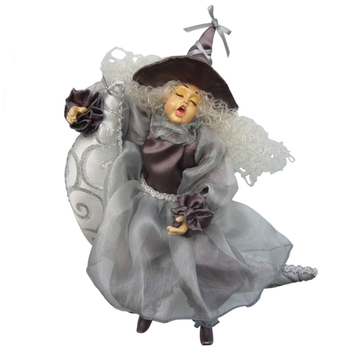 Sorcières de Pendle-Lune Dreamer sorcière à suspendre (Violet et Argent) 27cm Witches of Pendle EL1927/VC/P