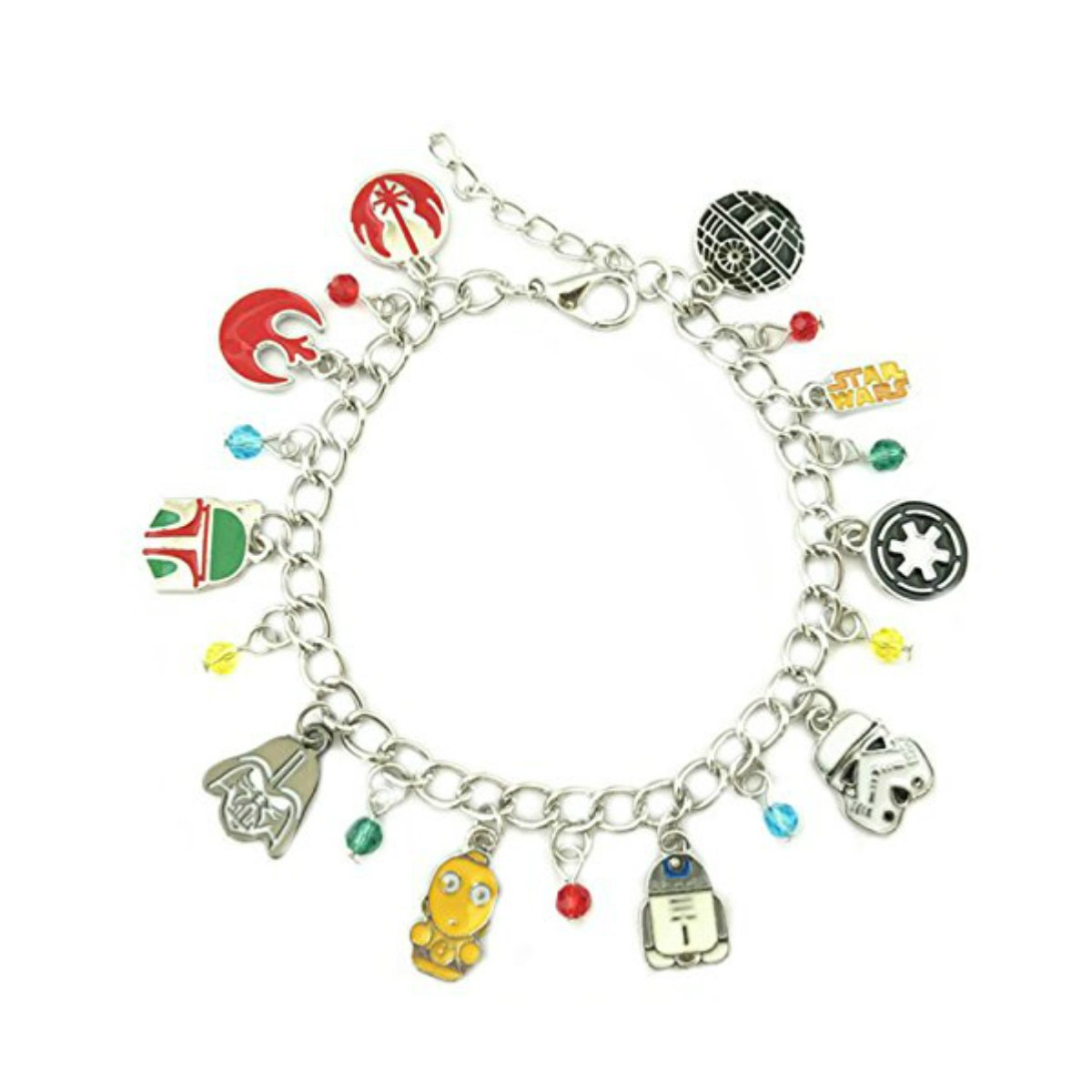 US FAMILY Star Wars Enamel Movie Theme Multi Charms Jewelry Bracelets Charm by Family Brands