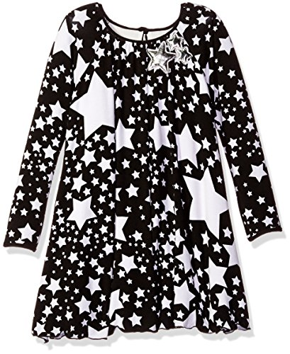 Pippa & Julie Little Girls Star Print Knit Dress, Multi, (Girls Star Dress)