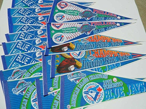 15 PENNANT LOT 1992/1993 TORONTO BLUEJAYS WORLD SERIES ALCS CHAMPIONSHIP (1993 Series World 1992)
