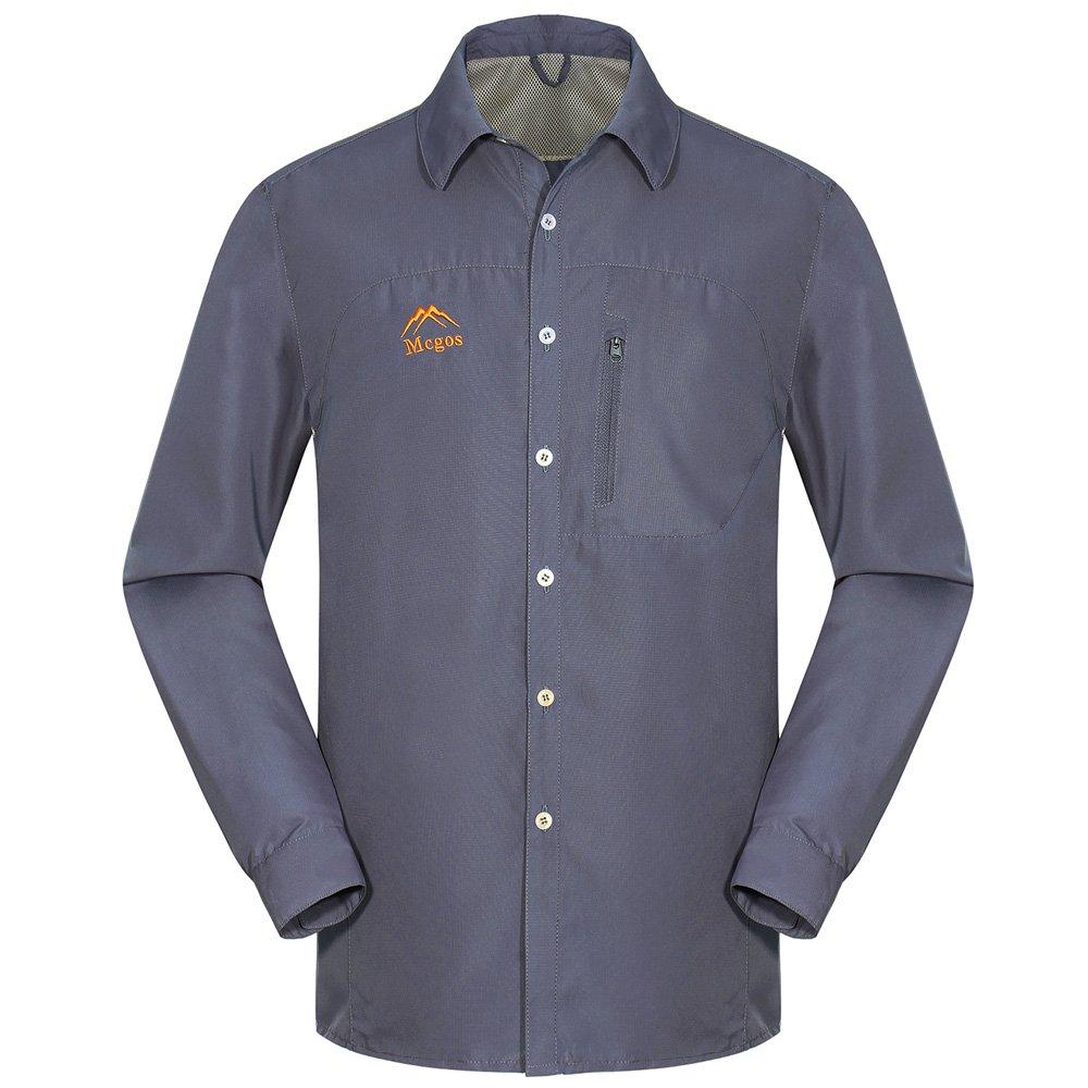 emansmoer Chaqueta Transpirable Malla de secado rápido camisa de manga larga Comfort Camping Pesca Camiseta MSAAC402