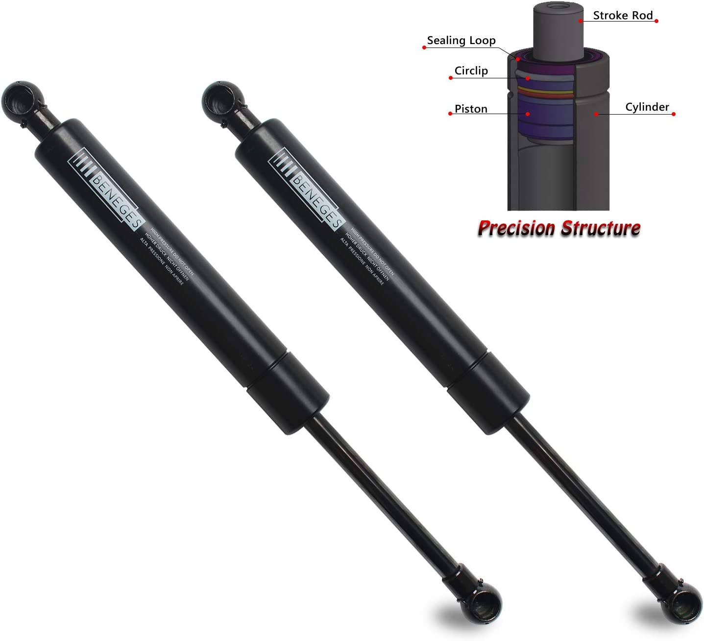 Beneges 2PCs Tailgate Lift Supports for 2001-2007 Volvo V70 613839 2006-2007 Volvo XC70 Rear Hatch Liftgate Gas Charged Springs Struts Shocks Dampers SG415010 SG415008
