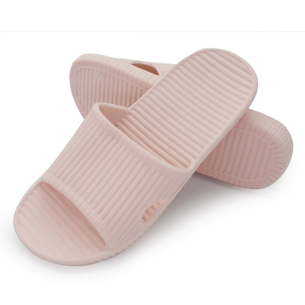 Moodeng Shower Slippers Men and Women Non-Slip Causal Indoor Home Bathroom Sandals Poolside (US Women 5.5-6.5/Men 4-4.5, Pink01)