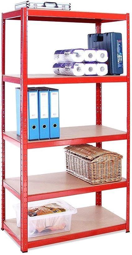 G-Rack 0034 Sistema de estanterías, Rojo, 1 Bay