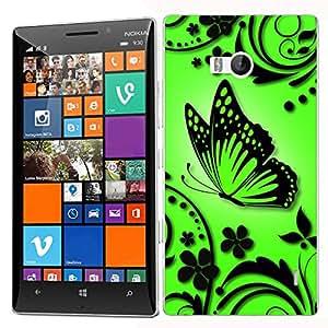 Pictoral carcasa de silicona y TPU funda de silicona para Nokia Lumia 930–Verde Caress