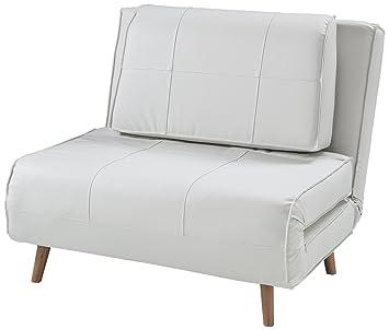 Letto A Poltrona.Wink Design Westminster Poltrona Letto Pelle Sintetica Bianco