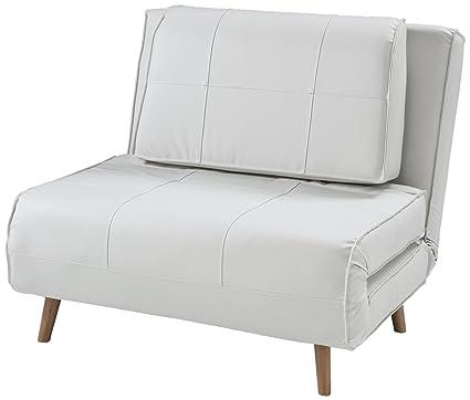 Divani Letto Designer.Wink Design Westminster Poltrona Letto Pelle Sintetica Bianco
