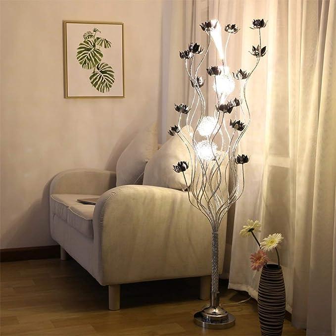 ZR Florero Creativo lámpara de pie Exquisita Planta casera ...