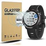 Suoman 4-Pack Tempered Glass Screen Protector for Garmin Forerunner 645 / Garmin Forerunner 645 Music, [2.5D 9H Hardness] [An