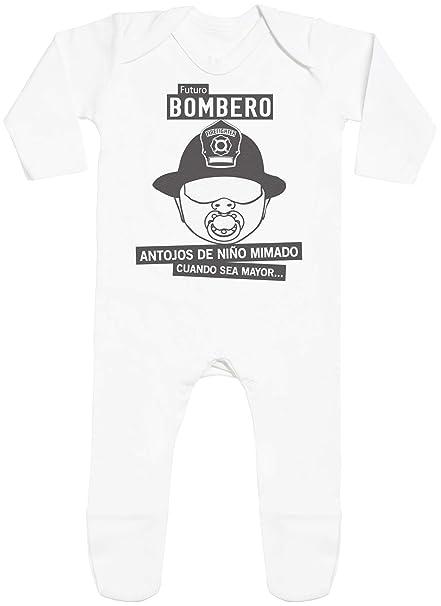 SR - Futuro Bombero - with Feet - Peleles para bebé - Peleles para bebé niño - Peleles para bebé niña - 6-12 Meses Blanco: Amazon.es: Ropa y accesorios