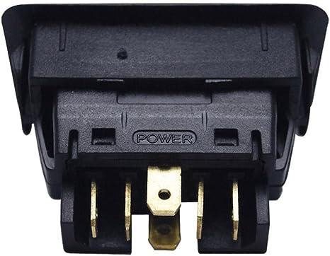 Interruptor de elevalunas el/éctrico AUTO coche 6Pin 12/ /24/V Universal Interruptor Ventana con verde indicador de iluminaci/ón