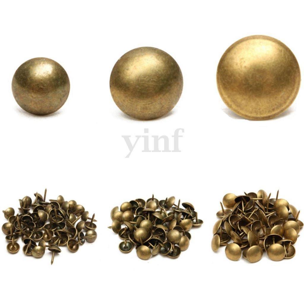 Bronce Sharplace Set de 100 Piezas Antique Tachuelas Tapicer/ía U/ñas Decoraci/ón Muebles Alfileres Perno Prisionero Nuevo y de Alta Calidad 7x10 mm