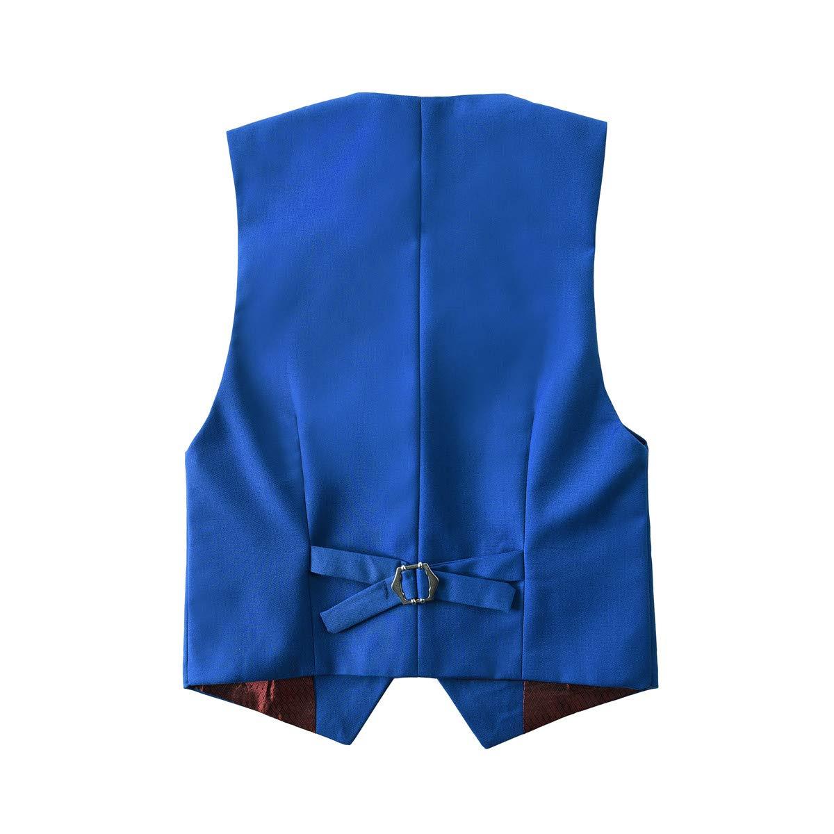 Yanlu Boys Tuxedos Toddler Formal Suits Set Kids Blue Black Slim Fit Suit for Weddings