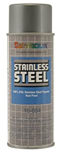 Stainless Steel Rust Protective Spray Paint - STAINLESS STEEL SPRAY 16 Oz. Can, 13 Oz. Net Wt