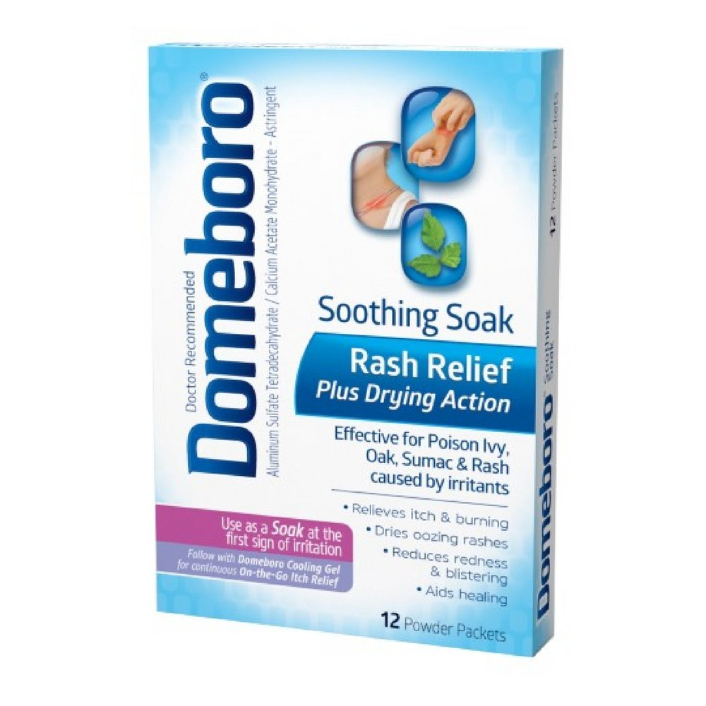 Domeboro Soothing Soak Rash Relief Powder Packets, 12 ea (Pack of 10) by Domeboro