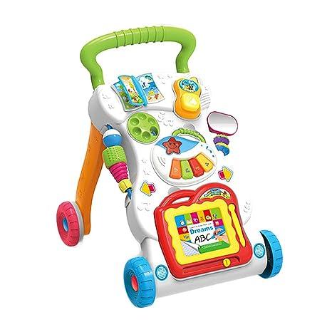 Luerme - Andador de bebé con juguetes, música y dibujo ...