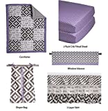 Bacati Love Girls Patchwork 6 Piece Crib Set, Grey/Lilac