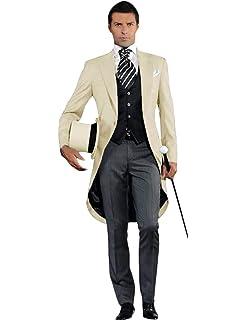 Amazon.com: Abruzzomaster Morning Suits Class Striped Pants ...