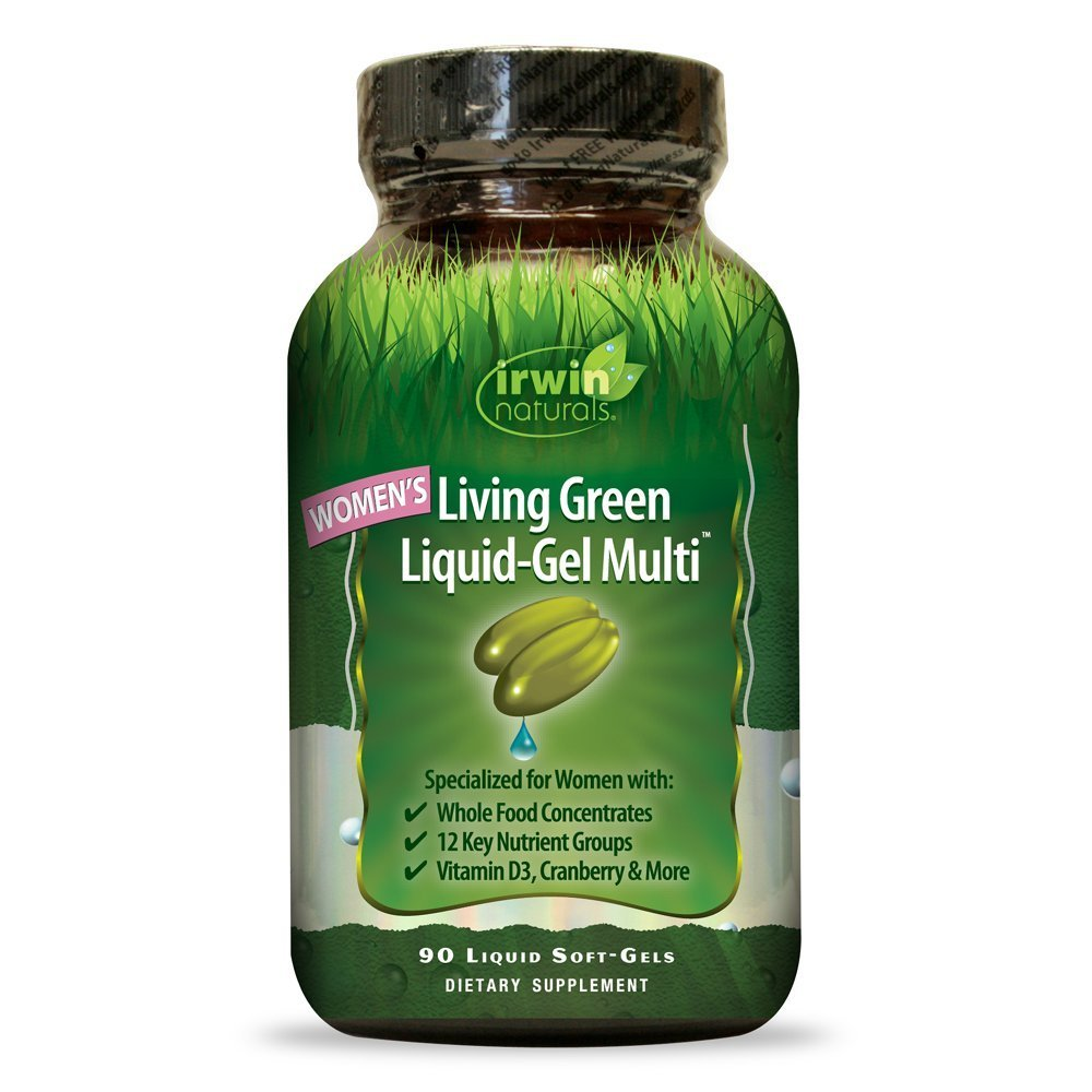 Women s Living Green Multi Vitamin by Irwin Naturals, Key Nutrients and Whole Food Concentrates, 90 Liquid Softgels